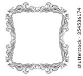 vintage frame with place for... | Shutterstock . vector #354536174