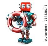 Robot With Lifebuoy. Technolog...