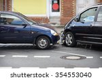 car crash or auto accident with ... | Shutterstock . vector #354553040