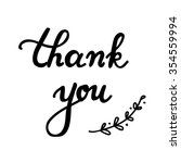 lettering thank you. vector... | Shutterstock .eps vector #354559994