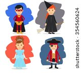 superhero and fairy  witch and... | Shutterstock . vector #354560624