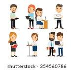 business men and business women ... | Shutterstock . vector #354560786