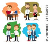 cartoon business people | Shutterstock . vector #354560939