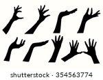 women hand to hold something....   Shutterstock .eps vector #354563774