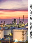 oil refinery at twilight  ... | Shutterstock . vector #354564983