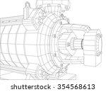 vector illustration of pumping... | Shutterstock .eps vector #354568613