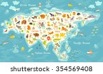 Animals World Map  North...
