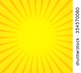 Sun Rays  Yellow Sunburst On...