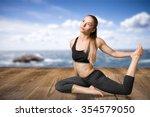 yoga. | Shutterstock . vector #354579050