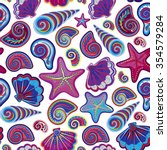 graphic pattern with colorful... | Shutterstock .eps vector #354579284