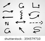 hand drawn arrows  vector set | Shutterstock .eps vector #354579710