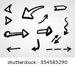 hand drawn arrows  vector set | Shutterstock .eps vector #354585290