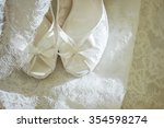 Wedding Shoes On Wedding Dress...