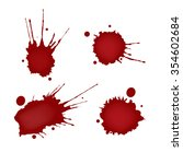 realistic blood splatters set | Shutterstock .eps vector #354602684