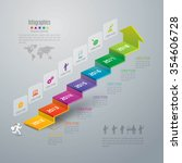 infographic design template can ... | Shutterstock .eps vector #354606728