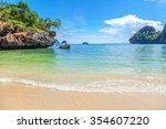 tropical paradise. railey beach ...   Shutterstock . vector #354607220