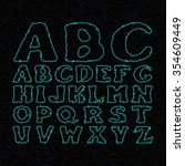 star font vector. space... | Shutterstock .eps vector #354609449