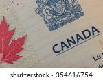 canadian passport | Shutterstock . vector #354616754