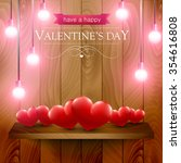 valentines day card with heart... | Shutterstock .eps vector #354616808