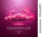 valentines day card with... | Shutterstock .eps vector #354616859