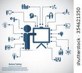 business training   learning... | Shutterstock .eps vector #354621350
