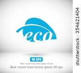 ecology icon. vector  eps 10  | Shutterstock .eps vector #354621404