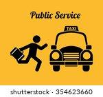 taxi service design  vector...   Shutterstock .eps vector #354623660