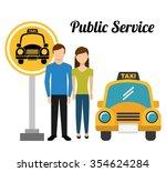 taxi service design  vector... | Shutterstock .eps vector #354624284