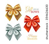 festive golden  silver and red... | Shutterstock .eps vector #354626630