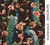 watercolor seamless pattern... | Shutterstock . vector #354628190