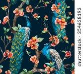 watercolor seamless pattern... | Shutterstock . vector #354628193