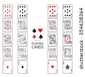 set of playing cards vector ... | Shutterstock .eps vector #354628364