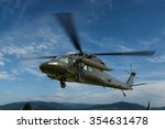 military helicopter uh 60 black ... | Shutterstock . vector #354631478