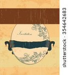 vintage invitation card with... | Shutterstock .eps vector #354642683