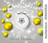 merry christmas and happy new... | Shutterstock .eps vector #354643526