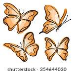 Orange Butterfly Illustration