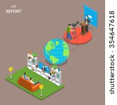 live report isometric flat...   Shutterstock .eps vector #354647618