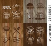 vintage bbq beef menu... | Shutterstock .eps vector #354650534