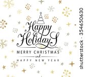 happy holidays greeting card.... | Shutterstock .eps vector #354650630