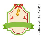 christmas label icon flat... | Shutterstock .eps vector #354653318