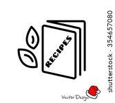 web line icon. recipe book | Shutterstock .eps vector #354657080