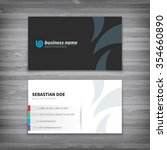 corporate business cards... | Shutterstock .eps vector #354660890