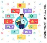 web life of admin or programmer ...   Shutterstock .eps vector #354669506