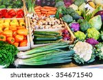 fresh organic vegetables at... | Shutterstock . vector #354671540