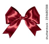 red bow. vector illustration | Shutterstock .eps vector #354680588