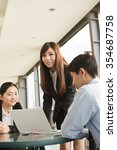 asian business team in the city. | Shutterstock . vector #354687758