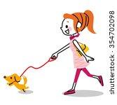 dog and walk | Shutterstock .eps vector #354702098