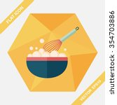 kitchenware beater flat icon... | Shutterstock .eps vector #354703886