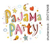 pajama party | Shutterstock .eps vector #354719648