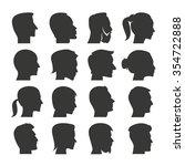 Human Face Icons Set